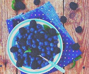 blueberries, food, and summer image