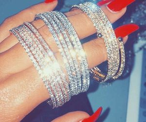 bracelet, diamonds, and jewelry image