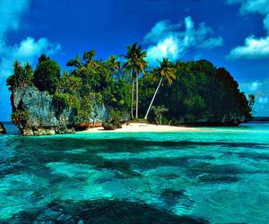 Island, summer, and beach image