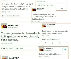 kanye west and tweets image