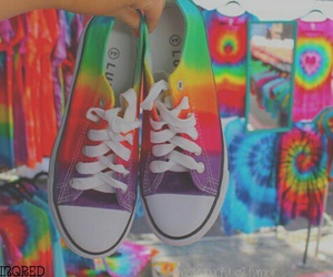 shoes, rainbow, and converse image