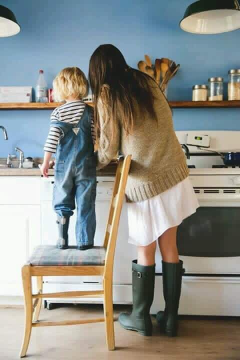 beautiful, baby, and cooking image