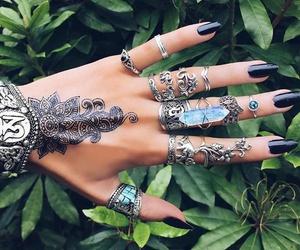 rings, nails, and henna image