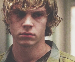 tate langdon, evan peters, and ahs image