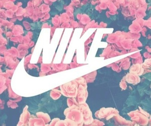 background, nike, and rose image