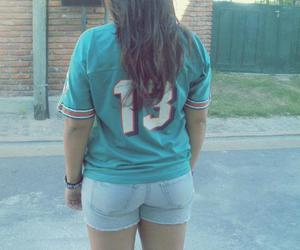 colour, miami dolphins, and girl image
