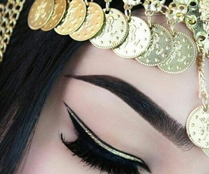 make up, eyebrows, and makeup image