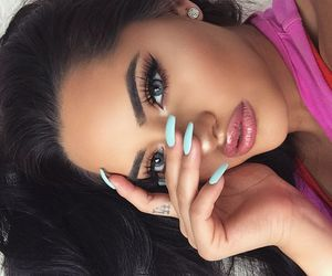 girl, makeup, and fashion image