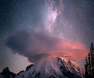stars, mountains, and nature image