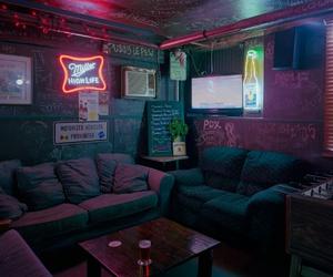 room, neon, and tumblr image