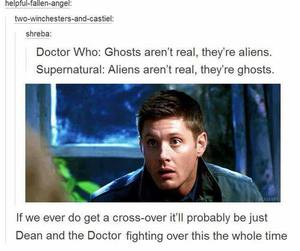dean winchester, doctor who, and fandom image