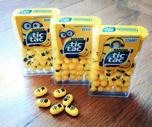 minions, tic tac, and food image