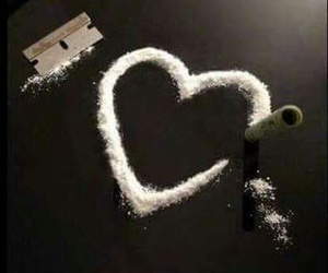 drugs, cocaine, and heart image