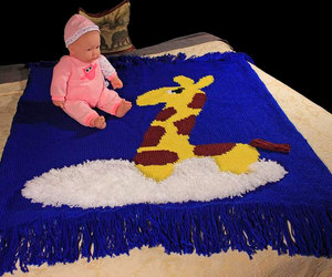 cloud, etsy, and crib blanket image