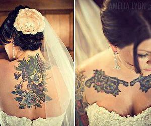 tattoo and bride image