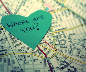 love, heart, and map image