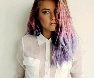 beautiful, hair, and pink image