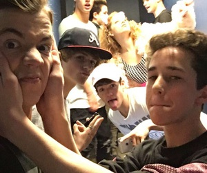 cameron dallas, taylor caniff, and dylan dauzat image