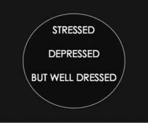 depressed, quotes, and stressed image
