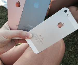 grey, iphone, and rose gold image