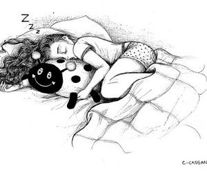 sleep, art, and drawing image