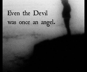 Devil, angel, and quotes image
