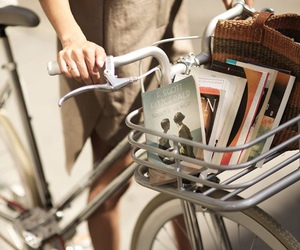 book, vintage, and bike image