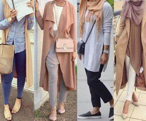 neutral blush hijab image