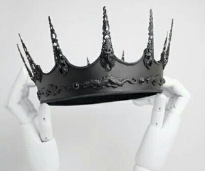 crown, black, and Queen image