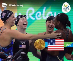 olympic games, swimming, and rio2016 image