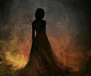 art, dress, and fire image