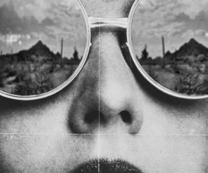 glasses, black and white, and vintage image