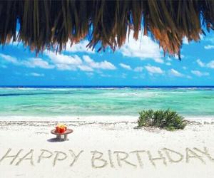 happy birthday and beach image
