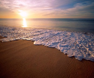 beach, sea, and sun image