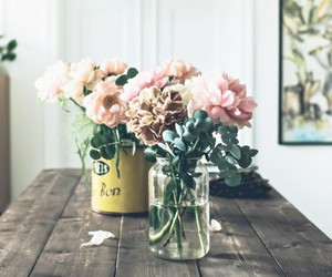 flowers and home image