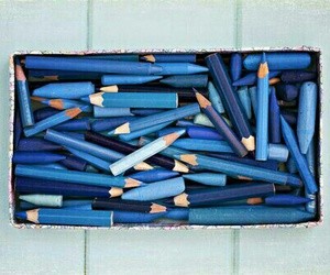 blue and pencil image