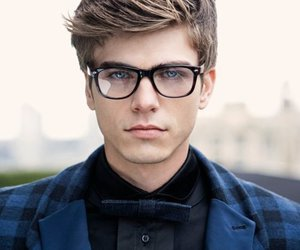boy, glasses, and model image