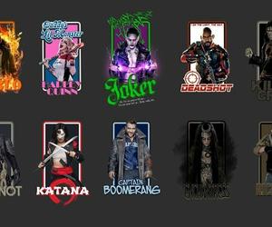 harley quinn, katana, and slipknot image