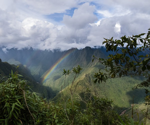rainbow, nature, and clouds image