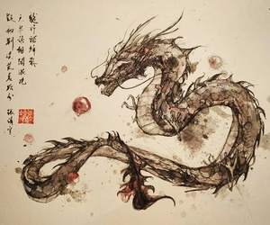 chinese, dragons, and deviantart image