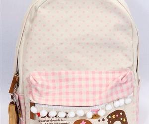 backpack, donuts, and kawaii image