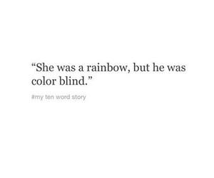 quotes, rainbow, and sad image