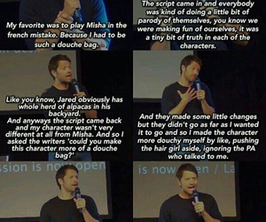 funny, castiel, and misha collins image