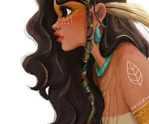 disney, art, and pocahontas image