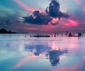 sky, pink, and blue image