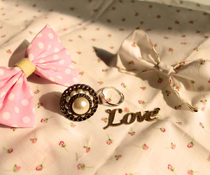 love, bow, and ring image