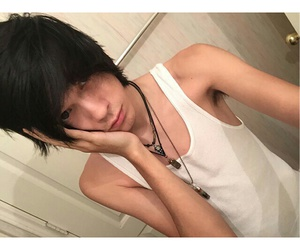 hairstyle, emo boy, and emo sexy image