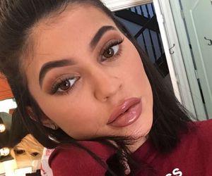 kardashian, lips gloss, and kylie jenner image