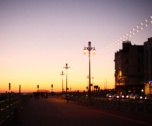 bay, evening, and lights image