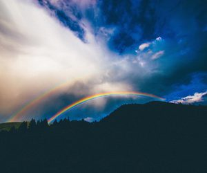 blue, rainbow, and cute image